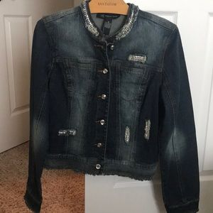 Jean jacket with bling